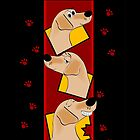 labrador greeting card by Diana-Lee Saville