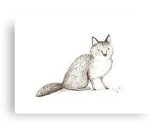 Swift Fox Sketch Canvas Print