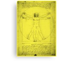 Vitruvian Man, Leonardo Da Vinci Canvas Print
