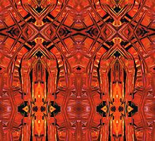 Red Abstract Art - Warm Garden 2 - By Sharon Cummings by Sharon Cummings