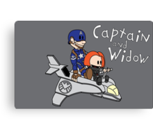 Captain and Widow Canvas Print