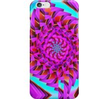 Tumbling squares, abstract, fractal patterns iPhone Case/Skin