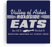 Valley of Ashes Roadside Eats Canvas Print