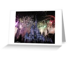 Cinderella's Castle Christmas Time durring Fireworks  Greeting Card