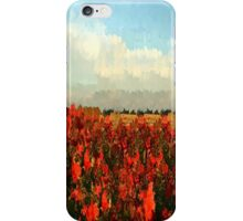 RED IMPRESSIONISM iPhone Case/Skin