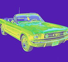 1965 Ford Mustang Convertible Pop Image by KWJphotoart