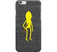 Lemongrab Silhouette & Quotes iPhone Case/Skin