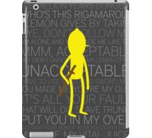 Lemongrab Silhouette & Quotes iPad Case/Skin