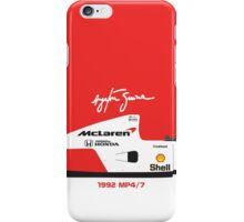 Ayrton Senna's 1992 McLaren MP4/7 iPhone Case/Skin