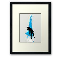 """For a minute there, I lost myself"" - Radiohead - dark Framed Print"