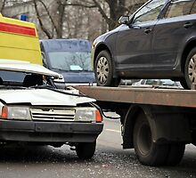 incredible collision of a passenger car and a tow truck by mrivserg