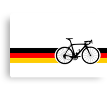 Bike Stripes German National Road Race Canvas Print