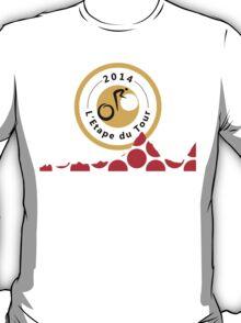 Red Polka Dot 2014 L'Etape du Tour Mountain Profile v2 T-Shirt
