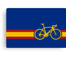 Bike Stripes Spanish National Road Race Canvas Print