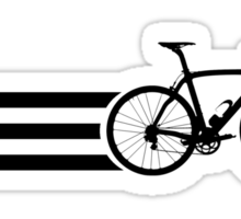 Bike Stripes Black Sticker