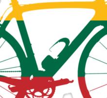Bike Flag Lithuania (Big) Sticker