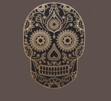 Black and Gold Sugar Skull T-Shirt