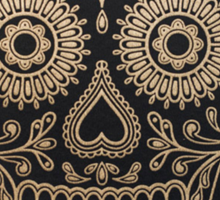 Black and Gold Sugar Skull Sticker
