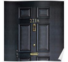 Black Door  with 221b number Poster