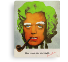 Oompa Loompa Self Portrait With Surreal Pipe Canvas Print