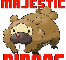 The Majestic Bidoof by SquallAndSeifer