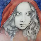 """""""Innocent No More"""" Portrait of Red Riding Hood by Katherine Appleby"""