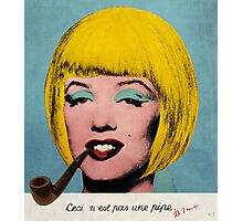 Bob Marilyn Monroe with surreal pipe Photographic Print