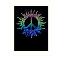 Peace Sign Sun Art Print