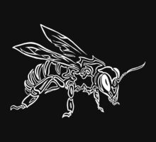"""Bee Spirit"" ver.2 - Surreal abstract tribal bee totem animal Kids Clothes"