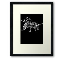 """Bee Spirit"" ver.2 - Surreal abstract tribal bee totem animal Framed Print"
