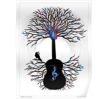 Rhythms of the Heart ~ Surreal Guitar Poster
