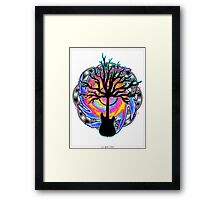 """Psychedelic Sonic Cyclone""   ( surreal guitar art) Framed Print"