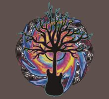 """""""Psychedelic Sonic Cyclone""""   ( surreal guitar art) Kids Clothes"""