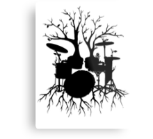 """""""Live the Beat to the Tempo of Creation"""" ~ drum tree art, version2 Metal Print"""