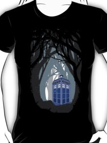 Space And Time traveller Box lost in the woods T-Shirt
