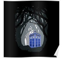 Space And Time traveller Box lost in the woods Poster