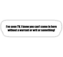Ghostbusters - I've Seen TV - Black Font Sticker