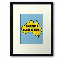 Boundless Plains to Share Framed Print