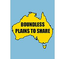 Boundless Plains to Share Photographic Print