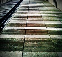 Walkway shadows 2 by Janine Barr