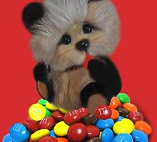 THE THINGS THAT MAKE U GO MM-BEAR EATING M&M's PICTURE/CARD/POSTER ..ECT. by ✿✿ Bonita ✿✿ ђєℓℓσ