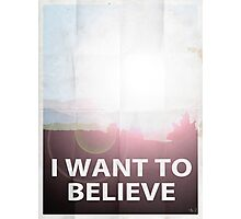 I want to believe light Photographic Print