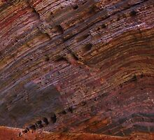Hamersley Gorge rock strata and water by gaylene