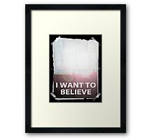 I want to believe light b Framed Print