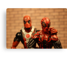 Deadpool and the Superior Spider-Man Canvas Print