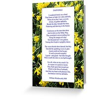 "Wordsworth's ""Daffodils"", especially good as a card. Greeting Card"