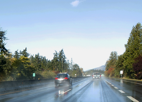 Highway 1 Leaving Victoria BC by AnnDixon