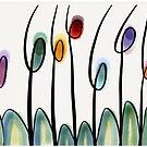 Modern art tulips  by goanna