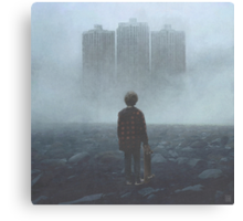 Boy And The Giants Canvas Print