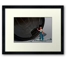 Reg took exception to what he perceived as the trivialisation of his life choice issues... Framed Print